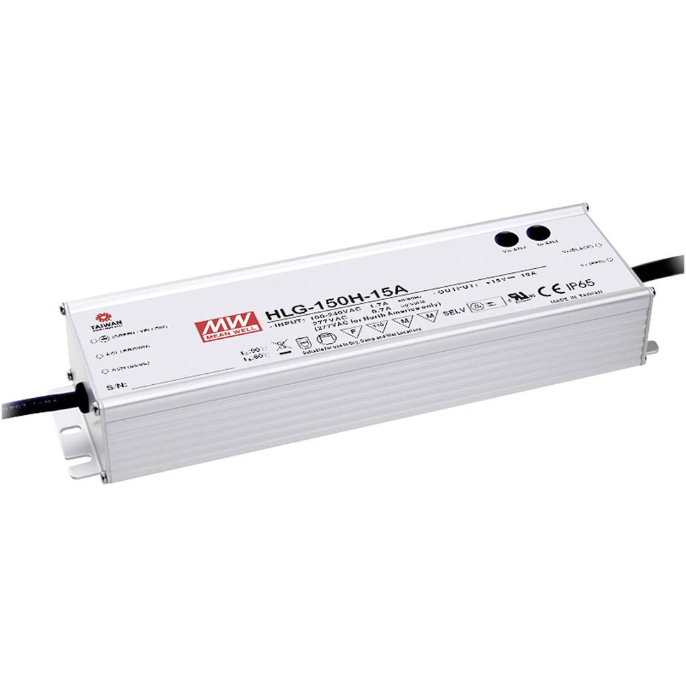 Mean Well Hlg 150h 12 Led Driver Transformer Constant Voltage Circuit Current 150 W 125 A 6 Vdc Pfc