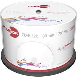 CD-R 80 disc Primeon Kan forsynes med print 700 MB Spindel 50 stk