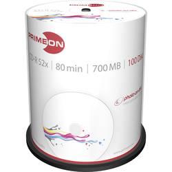 CD-R 80 disc Primeon Kan forsynes med print 700 MB Spindel 100 stk