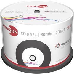 CD-R 80 disc Primeon Vinyl, Kan forsynes med print 700 MB Spindel 50 stk