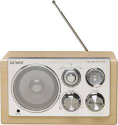 FM Bordradio Denver TR-61 AUX, MW, FM Træ
