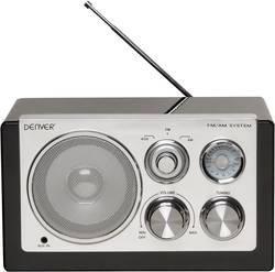 FM Bordradio Denver TR-61 AUX, MW, FM Sort, Sølv