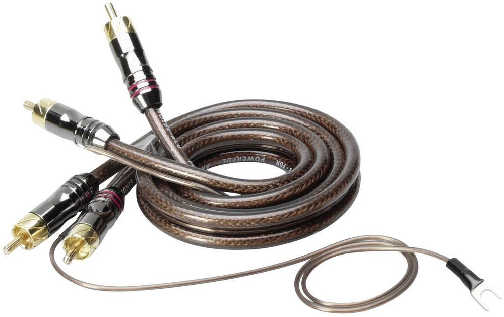 Phono-kabel Sinuslive CX-08 Sort, Halvtransparent 0.8 m