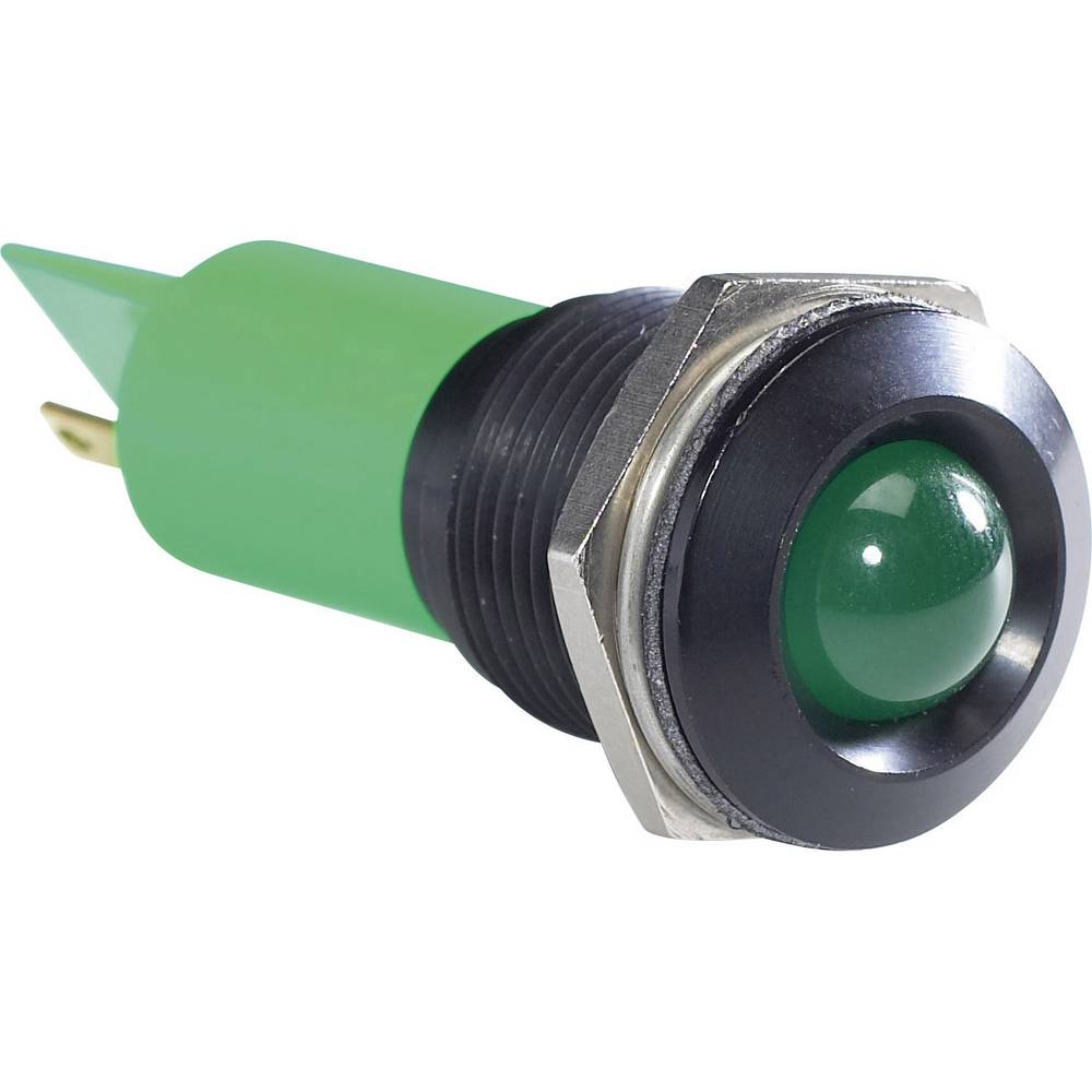 LED signalna lučka, zelena 12 V/DC APEM Q16P1BXXG12E
