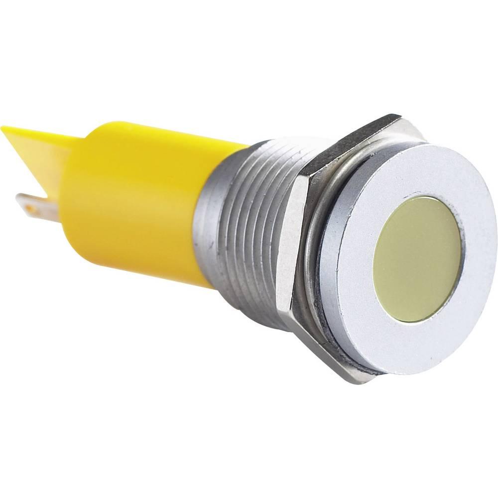 LED-signallampe APEM Q16F1CXXY12E 12 V/DC 20 mA Gul
