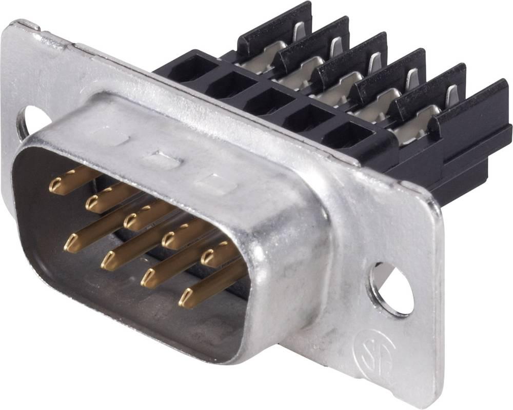 D-SUB pinska letev, število polov: 15 z objemko, z objemkami TE Connectivity AMPLIMITE HD-20 (HDE-20) 1 kos