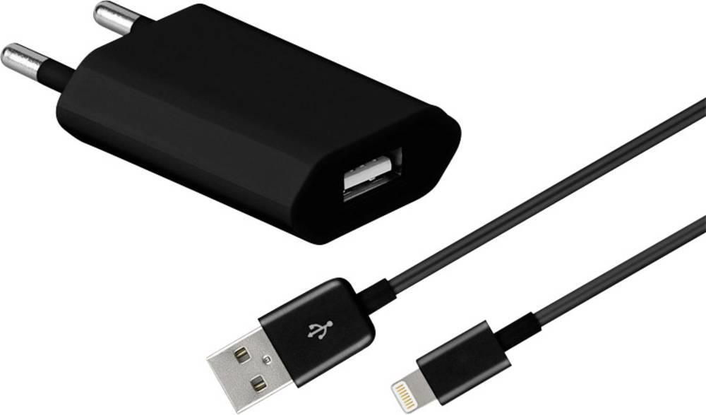 USB napajalnik 2-delni komplet z vtičnico Goobay 43790 izhodni tok (maks.) 1000 mA 1 x Apple Dock-vtič Lightning