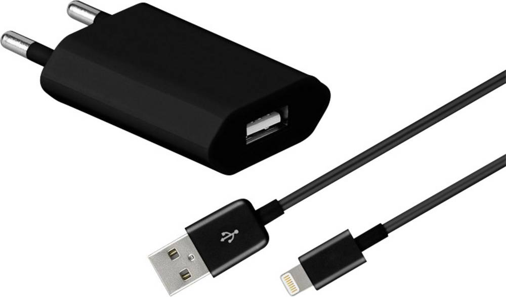 IPad/iPhone/iPod-oplader Goobay 43790 43790 Stikdåse Udgangsstrøm max. 1000 mA 1 x Apple dockstik Lightning, USB