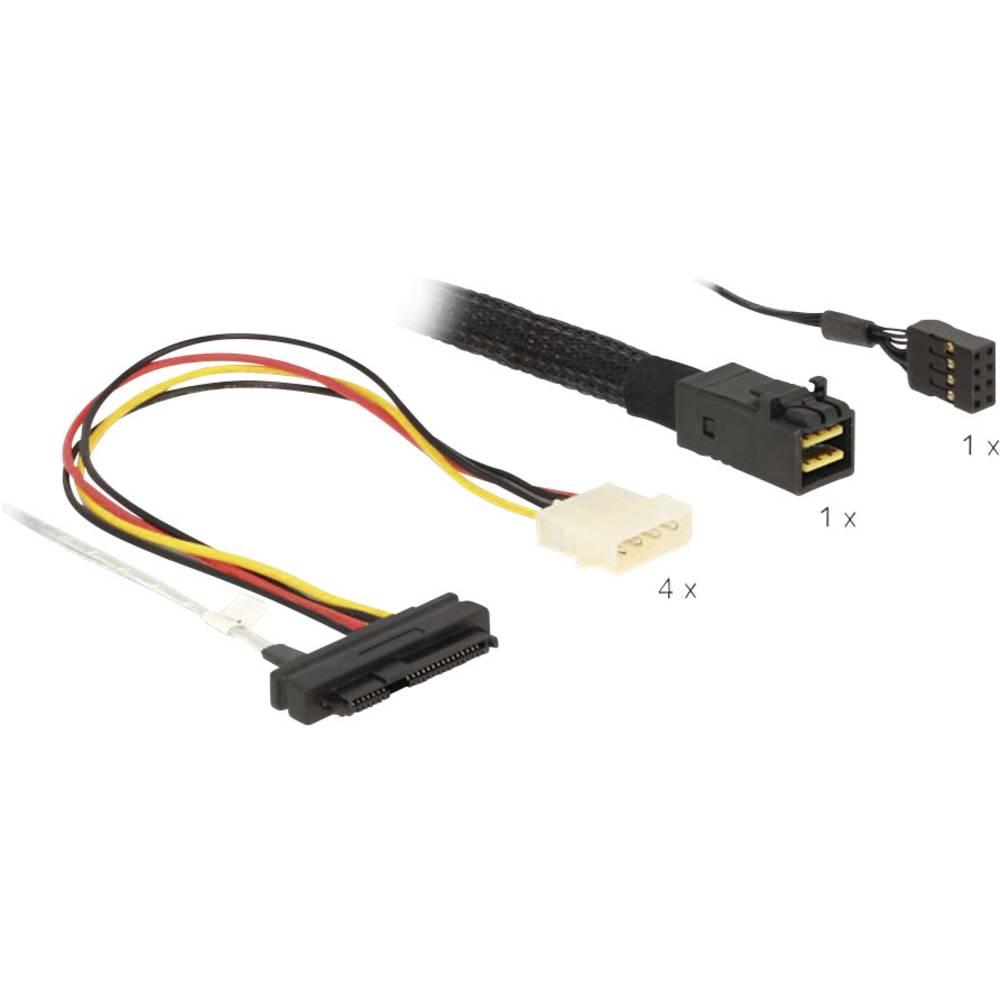 Priključni kabel za tvrdi disk [1x Mini SAS HD x4 SFF 8643 utikač - 4 x SAS 29 Pin SFF 8482 ženski utikač, 4 x Molex strujni pri