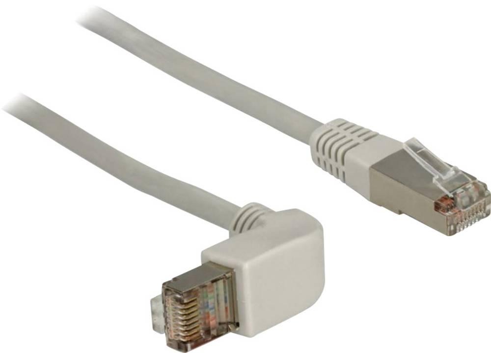 RJ45 omrežni priključni kabel CAT 6 S/FTP [1x RJ45-vtič - 1x RJ45-vtič] 1 m siv Delock