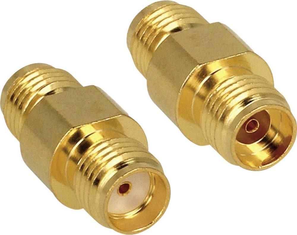 Brezžični antenski adapter [1x SMA-vtičnica - 1x SMA-vtičnica] 0 m zlat Delock