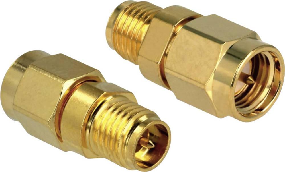 Brezžični antenski adapter [1x RP-SMA-vtičnica - 1x SMA-vtič] 0 m zlat Delock