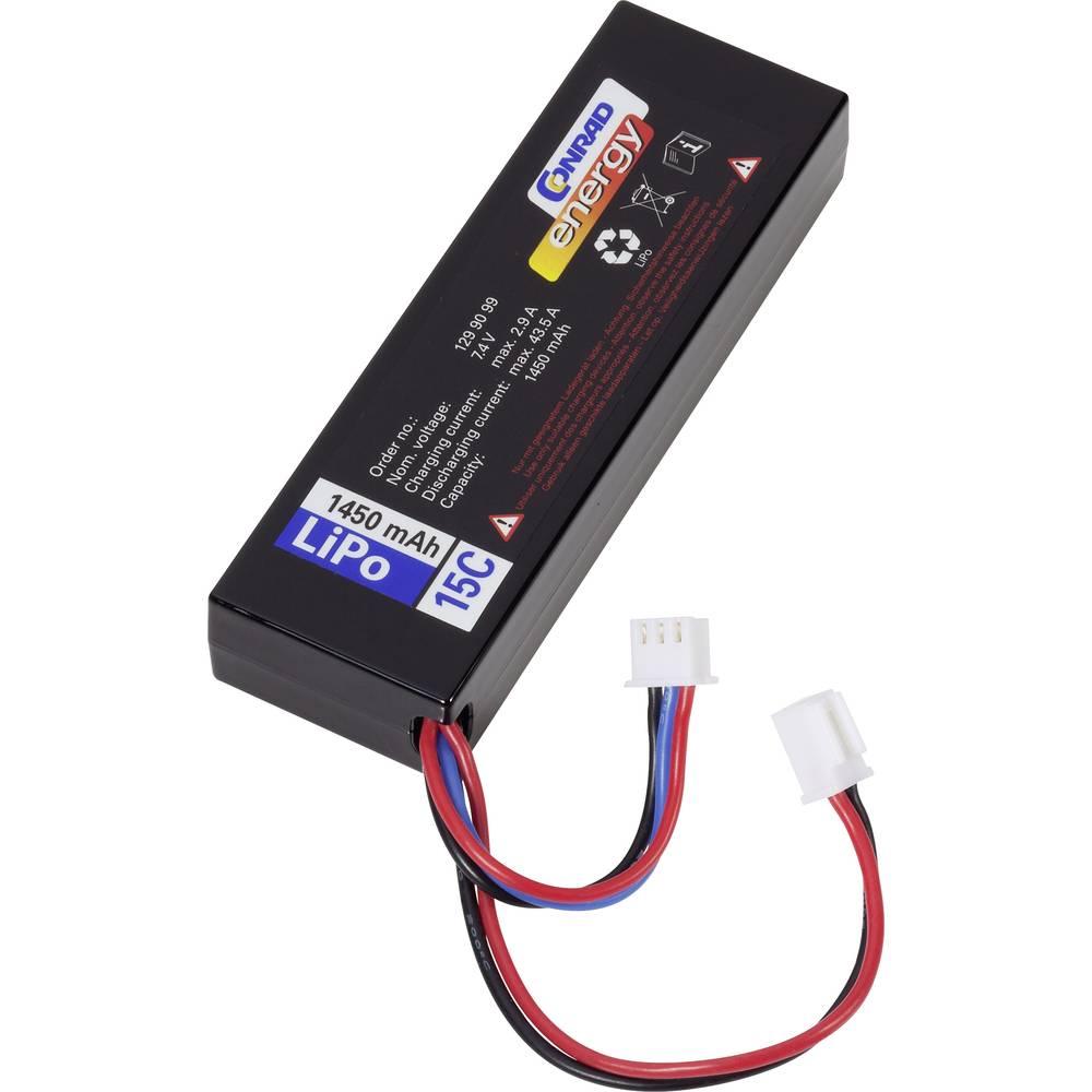 Baterijski paket za modele (LiPo) 7.4 V 1450 mAh broj ćelija: 2 15 C Conrad energy Hardcase Micro-Car-utikač