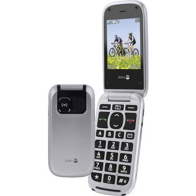 doro PhoneEasy 613 Big button flip top mobile phone Charging station, Panic button Silver