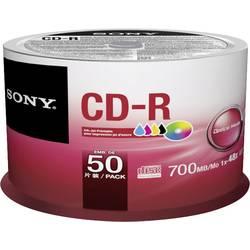 CD-R disc Sony Kan forsynes med print 700 MB Spindel 50 stk