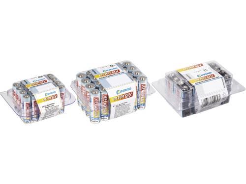 Conrad energy Batterijset AAA, AA, 9 V 58 stuks Incl. box