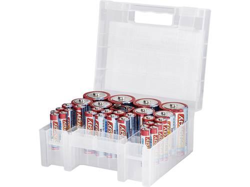 Conrad energy Batterijset AAA, AA, C, D, 9 V 31 stuks Incl. box