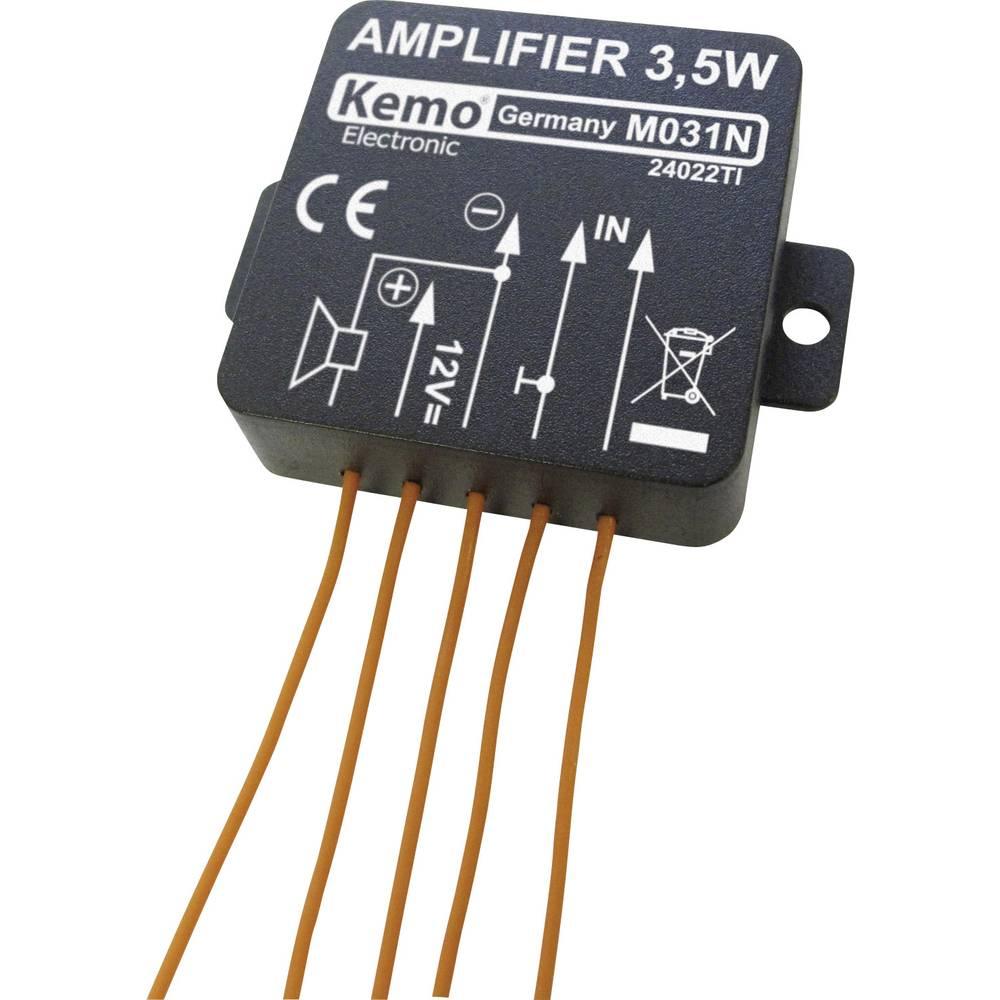 Mono ojačevalni modul Kemo M031N 5 V/DC, 6 V/DC, 9 V/DC, 12 V/DC 3.5 W