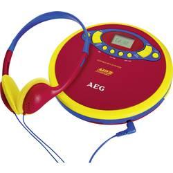 Bærbar CD-afspiller AEG CDP 4228 Kids Line Rød, Flerfarvet