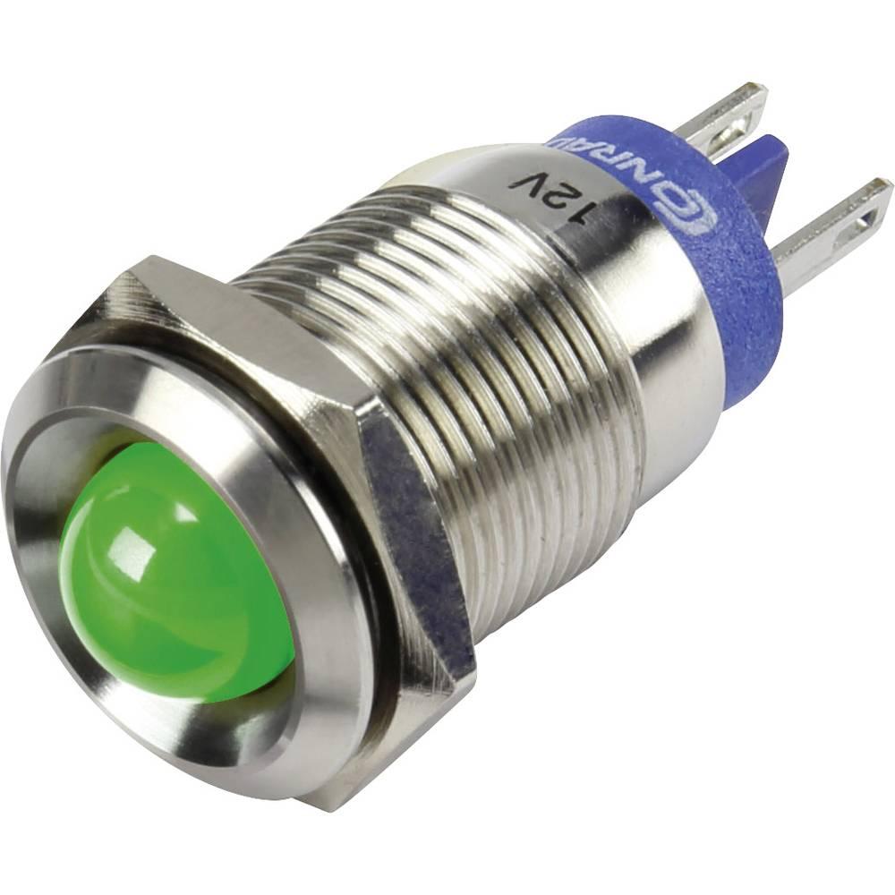 LED-signallampe TRU COMPONENTS 1302088 12 V/DC 15 mA Grøn