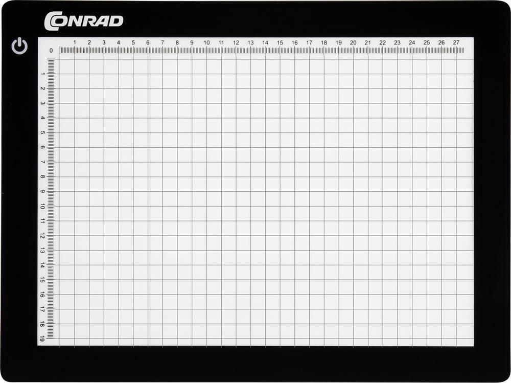 Lys- og montagepult Conrad Components Sort (L x B) 21 cm x 29.5 cm KB-A4 1 stk