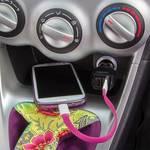 LogiLink USB car charger 12-24 V
