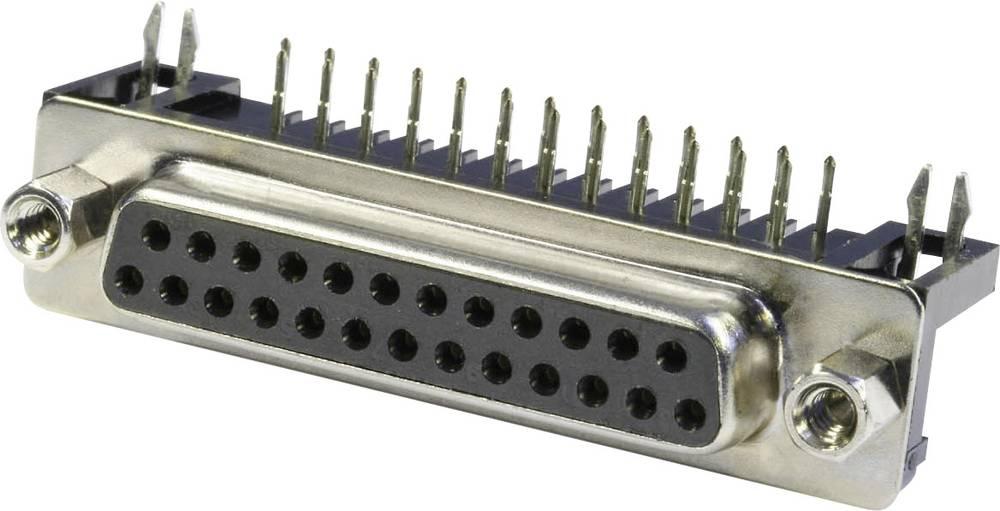 D-SUB vtične letve 90 ° število polov: 25 s spajkalnimi pini econ connect BU25WB/7 1 kos