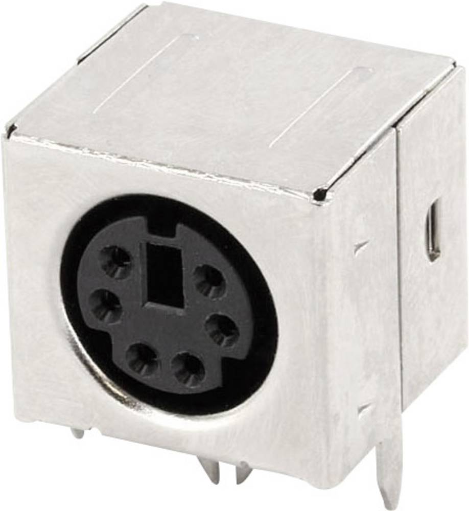 Miniaturni-DIN-okrogli vtični konektor za vtičnico, vgraden horizontalen število polov: 6 črne barve econ connect MDIOB6G 1 kos