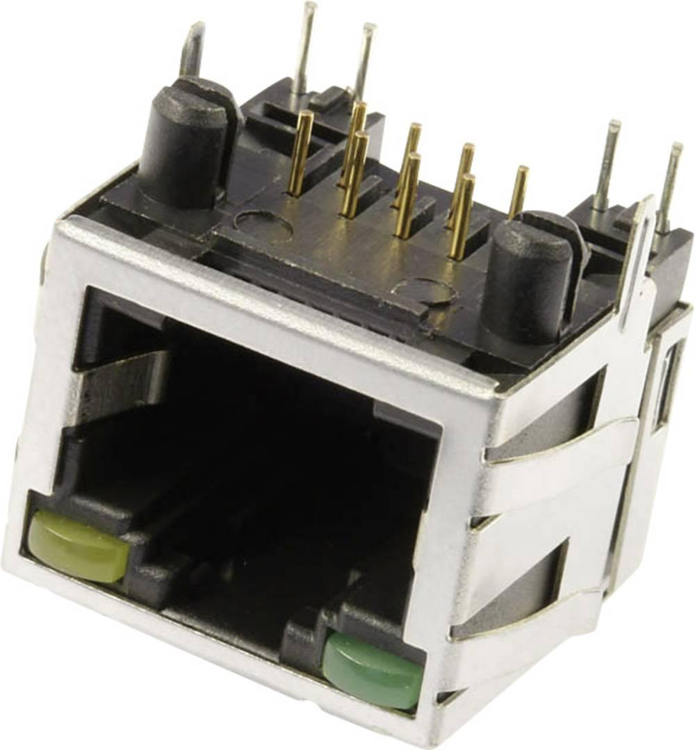 RJ45 Tilslutning, indbygning vandret econ connect M8L1G3 CAT 3 Metal 1 stk