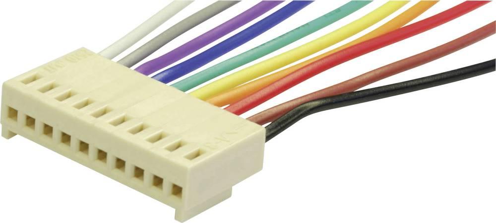Vtičnica s kabli econ connect PS6, mere: 2.54 mm 1 kos