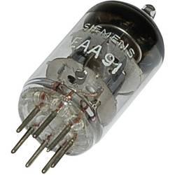 Elektronka EAA/EB 91 = 6 AL 5 dvojna dioda 420 V 9 mA št. polov: 7 podnožje: miniaturno