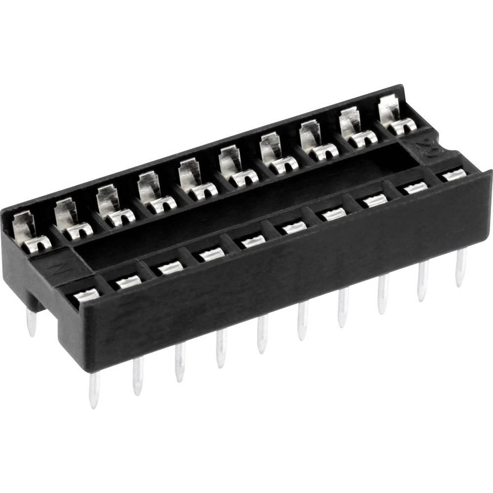 IC-fatning Rastermål: 7.62 mm Poltal: 18 econ connect 1 stk