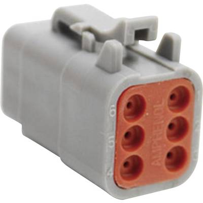 Image of Amphenol ATM06 6S Bullet connector Socket, straight Series (connectors): ATM Total number of pins: 6 1 pc(s)