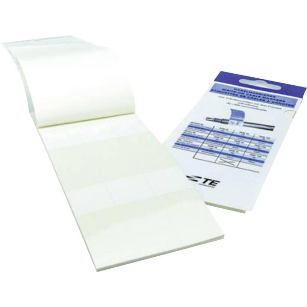 Samolaminirajuće etikete za ručno označavanje kablova BKM-7546-9 TE Connectivity bijela, prozirna sadržaj: 1 list