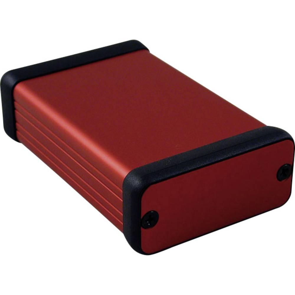 Profilno kućište, aluminij, crvena boja 80 x 54 x 23 Hammond Electronics 1455C801RD 1 kom.
