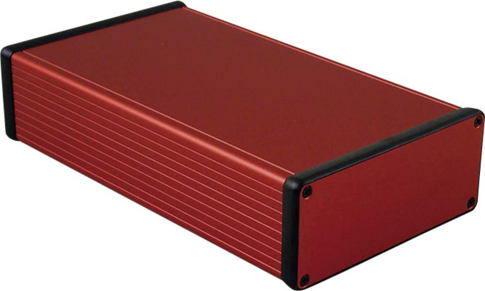 Profilno kućište, aluminij, crvena boja 220 x 125 x 51.5 Hammond Electronics 1455Q2201RD 1 kom.