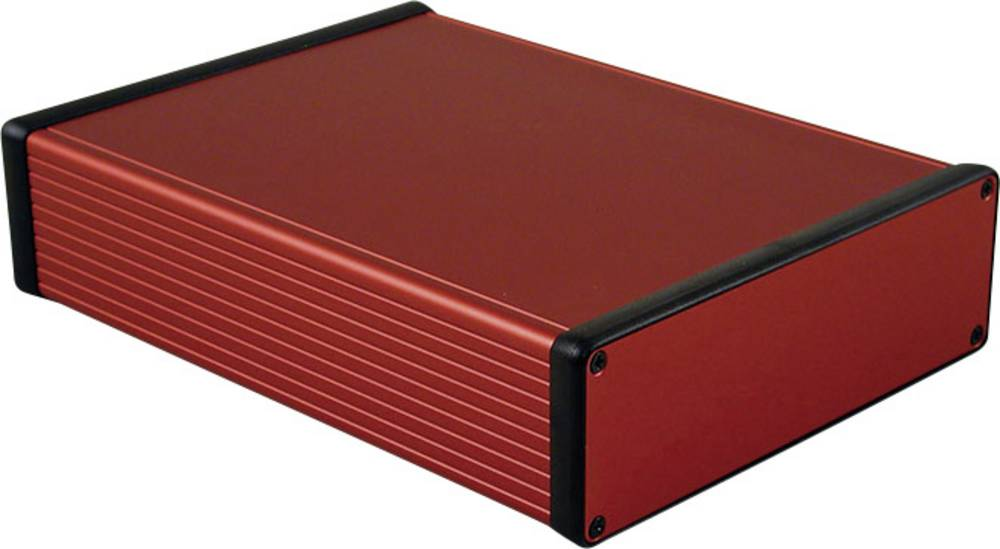Profilno kućište, aluminij, crvena boja 220 x 165 x 51.5 Hammond Electronics 1455T2201RD 1 kom.