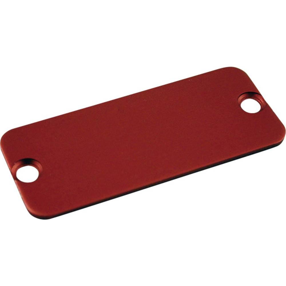 Krajnja ploča serija 1455 Hammond Electronics aluminij (D x Š) 120.5 mm x 30.5 mm crvena 10 komada