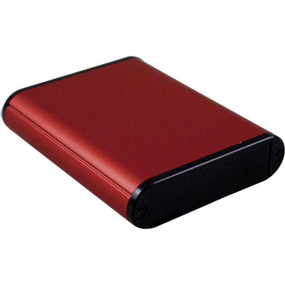 Profilno kućište, aluminij, crvena boja 80 x 71.7 x 19 Hammond Electronics 1455B802RD 1 kom.