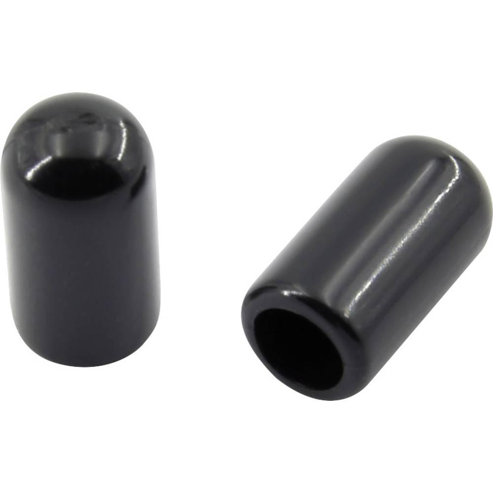 Završna kapica, nije skupljajuća, prije/nakon skupljanja: 3.2 mm/3.2 mm 100 kom. crna