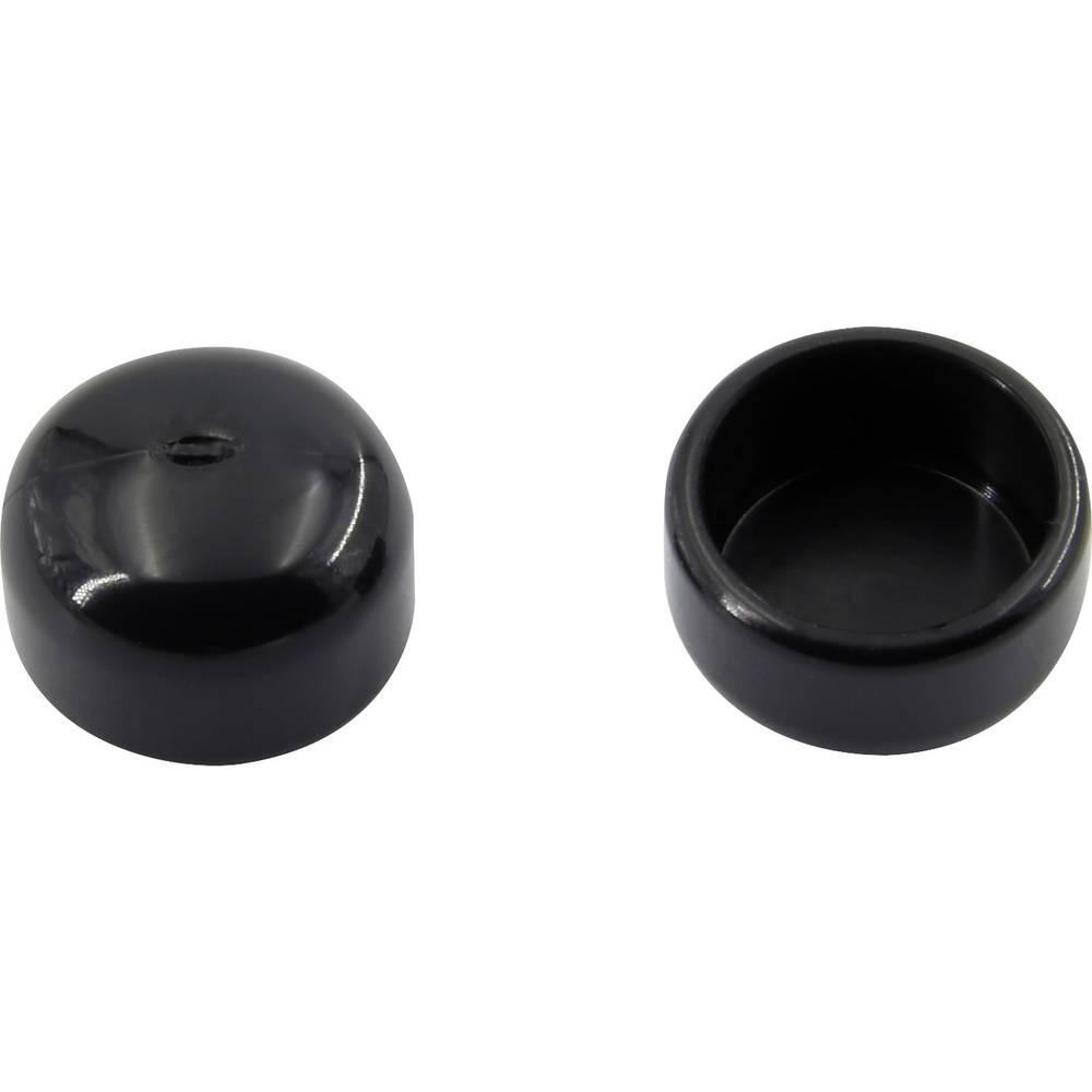 Završna kapica, nije skupljajuća, prije/nakon skupljanja: 9.4 mm/9.4 mm 100 kom. crna