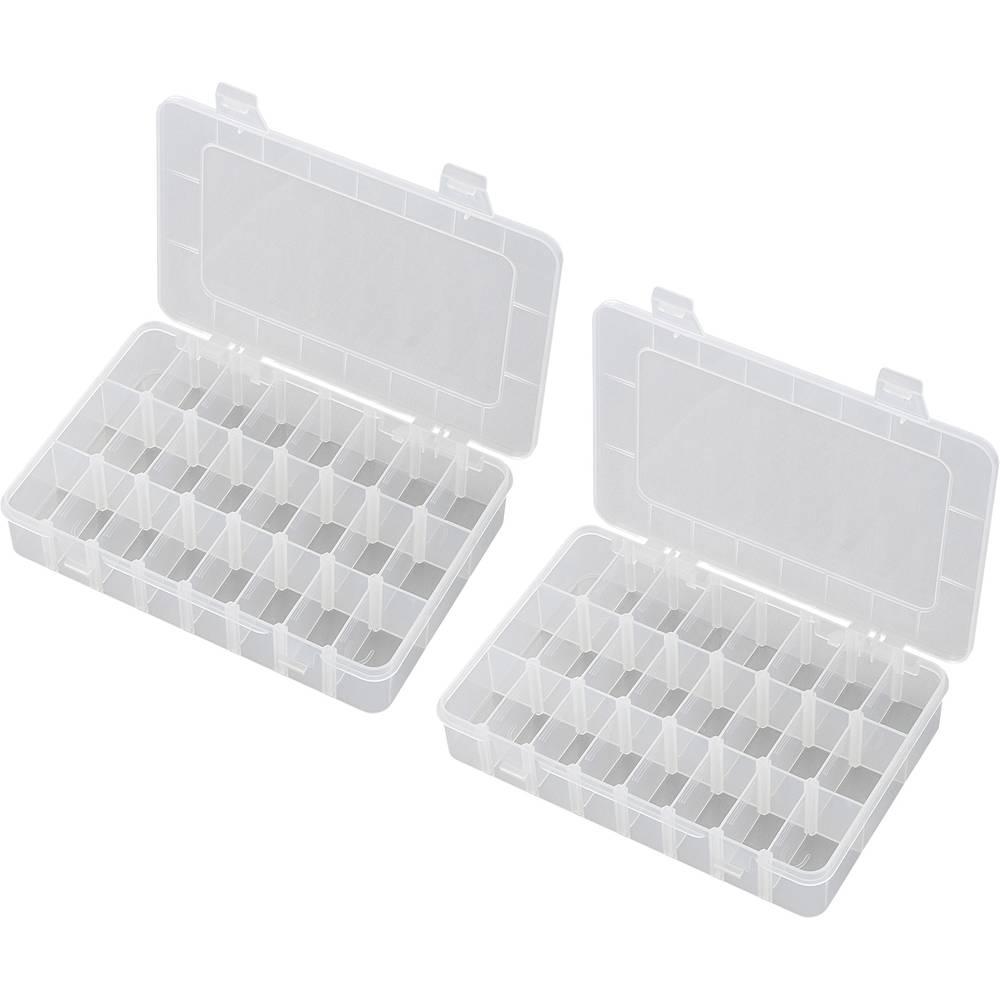 Sortirna škatla (D x Š x V) 200 x 130 x 35 mm EKB-206 št. predalov: 24 nastavljivo pregrajevanje
