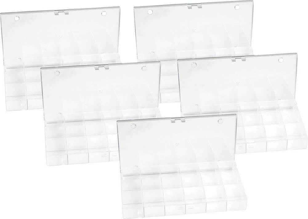 Sortirna škatla (D x Š x V) 194 x 31 x 101 mm št. predalov: 18 fiksna pregraditev