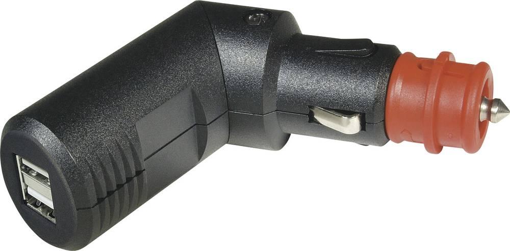 ProCar Polnilni kotni vtikač, dvojna USB vtičnica, maks. tokovna obremenitev: 5000 mA za USB-A