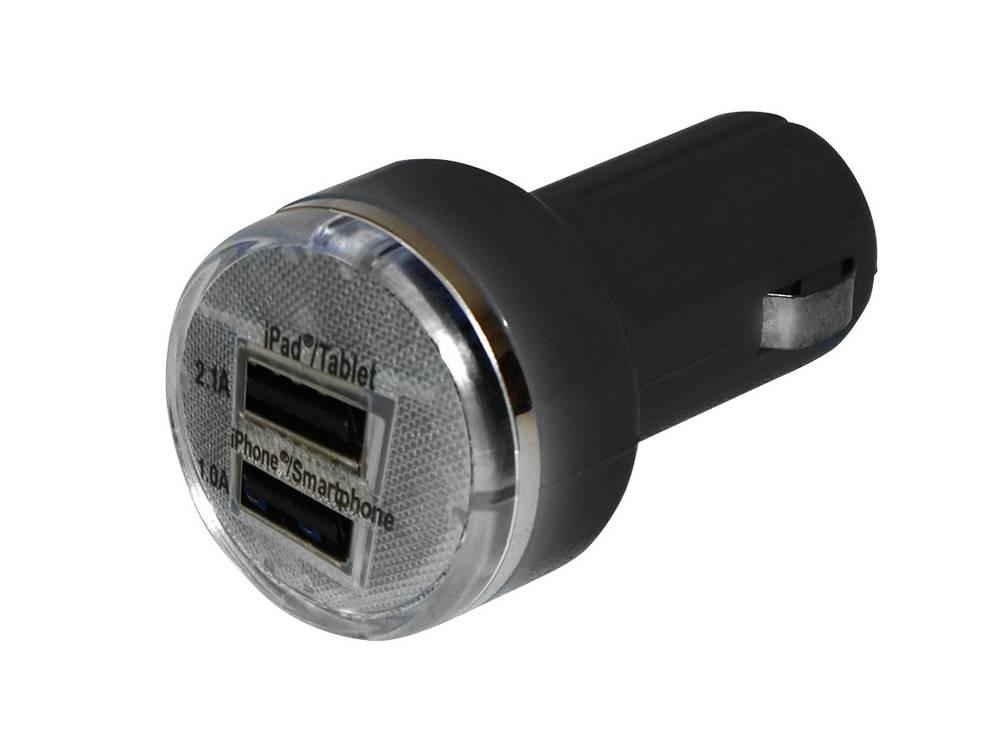Eufab USB-Ladeadapter 12 V til 5 V, 24 V til 5 V 2.1 A Cigarettænder-stik