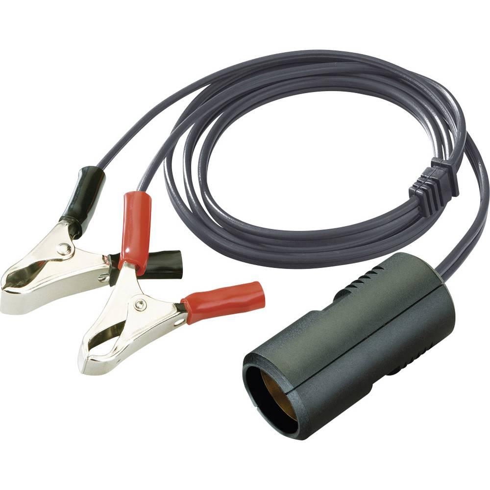 Spojni kabel 8A ProCar krokodilske stezaljke opterećenje struja maks.=8 A za upaljać cigareta