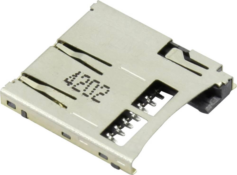 microSD Kort-sokkel Skub , Skub Attend 112A-TAAR-R03 1 stk