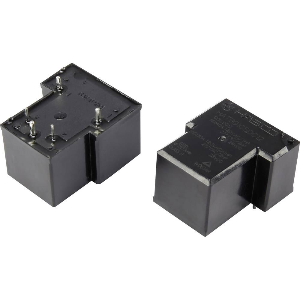 Rele za tiskana vezja 12 V/DC 40 A zapiralni Hasco Relays and Electronics HAT901AS30DC12 1 kos