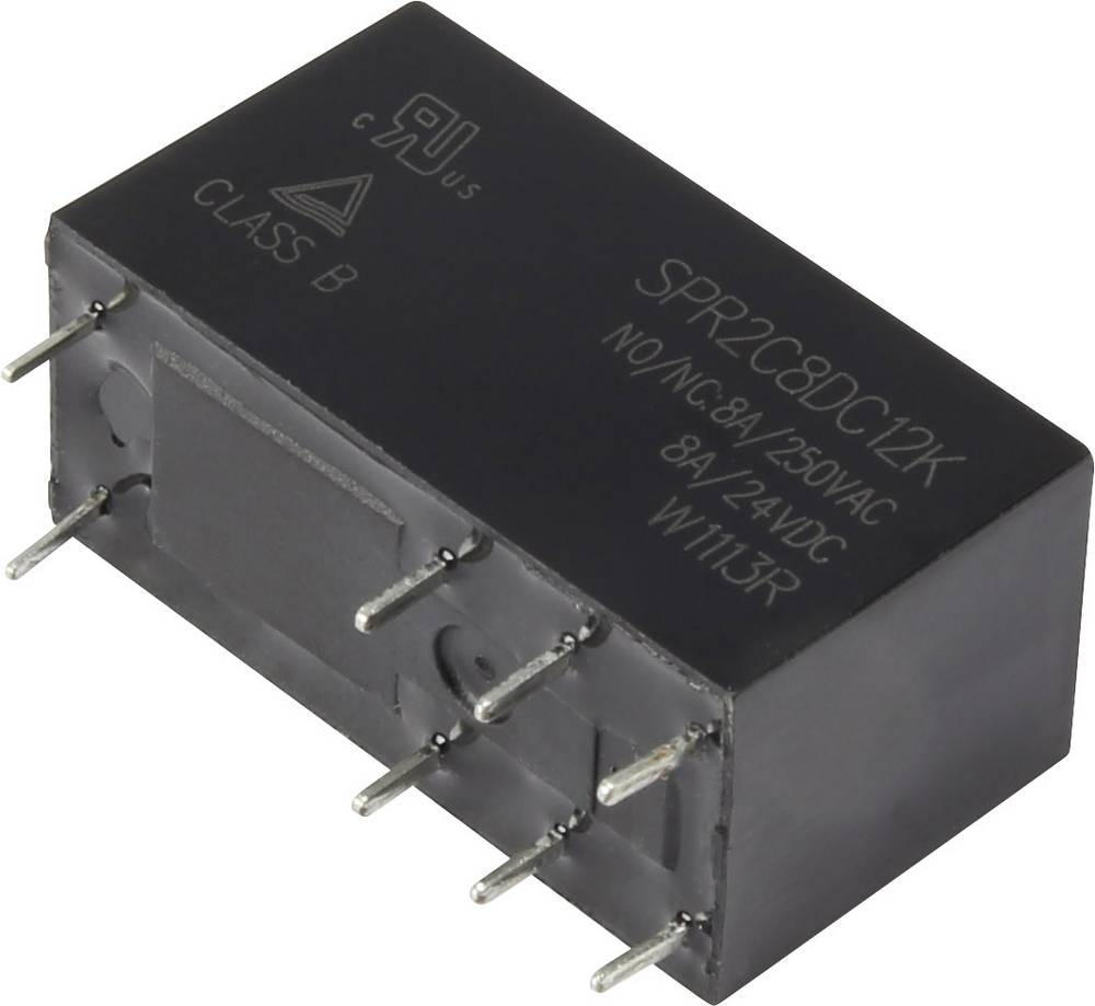 Rele za tiskana vezja 12 V/DC 8 A 2 x preklopni Hasco Relays and Electronics SPR2C8DC12K 1 kos