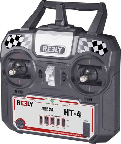 Reely HT-4 Handheld RC 2,4 GHz No. of channels: 4 Incl. receiver
